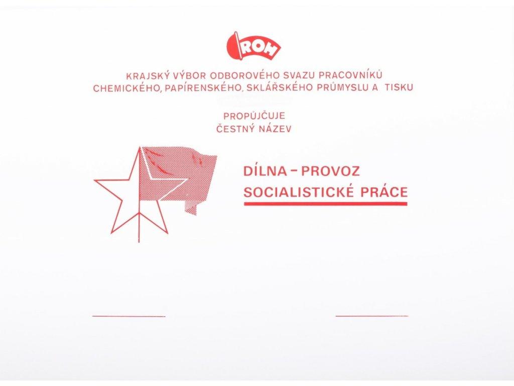 Dílna - provoz socialistické práce