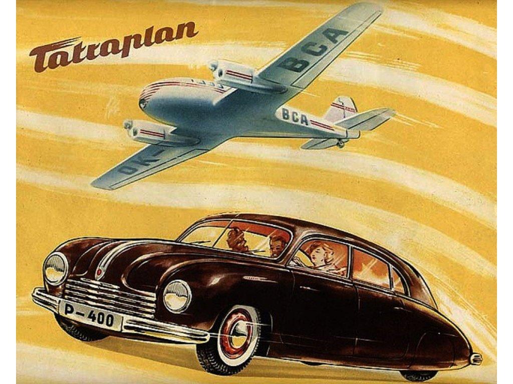Plechová retro cedule / plakát - Tatraplan