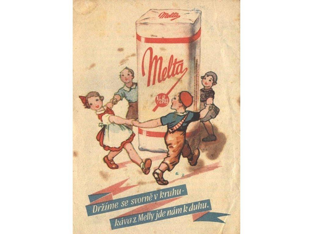 Reklamní plakát / Plechová cedule - Melta