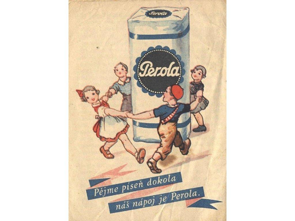 Reklamní plakát / Plechová cedule - Perola