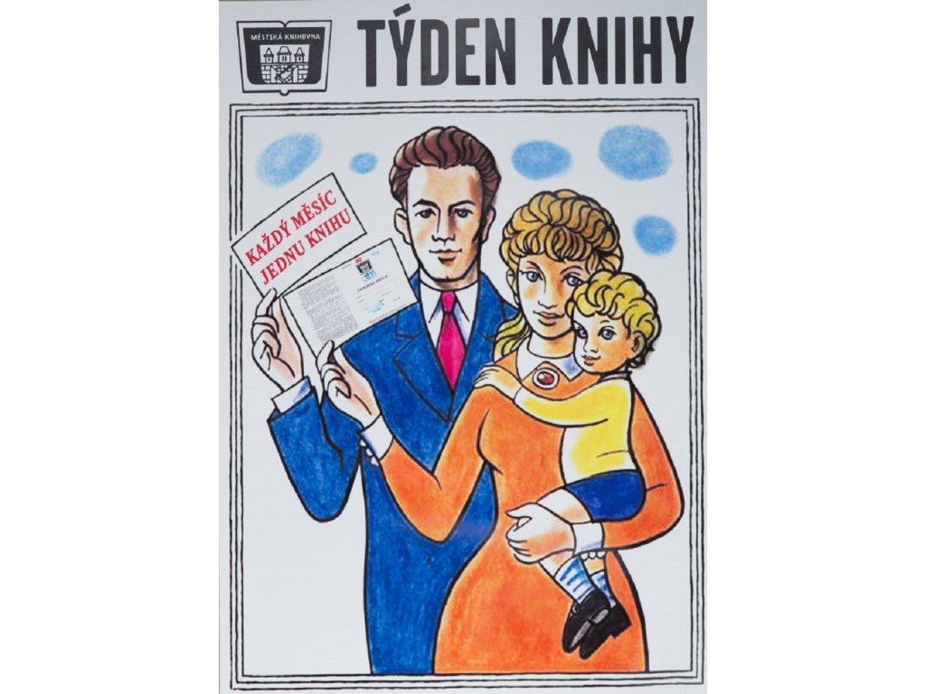 Reklamní plakát / Plechová cedule - Týden knihy