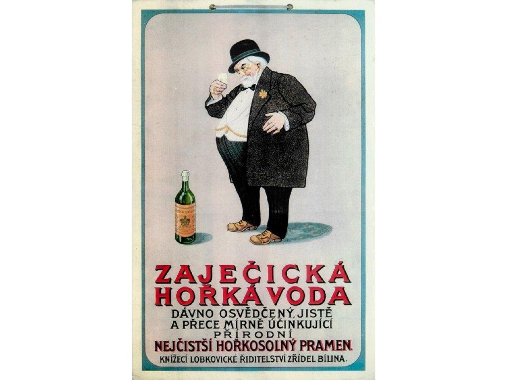 Reklamní plakát / Plechová cedule - Zaječická hořká voda