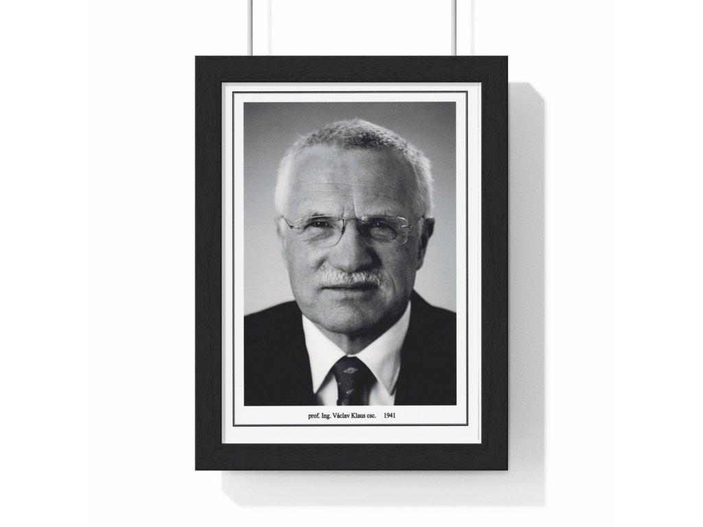 Obraz prezidenta Václava Klause - retro dárek