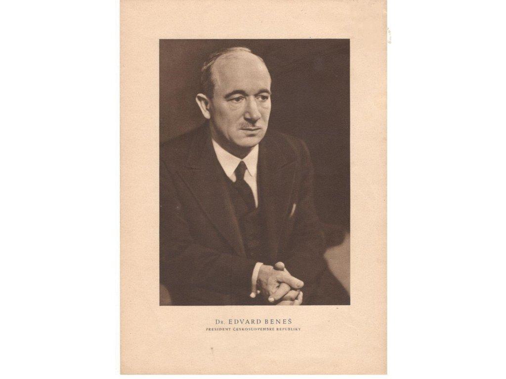 Obraz prezidenta Edvarda Beneše, var. 3 - retro dárek