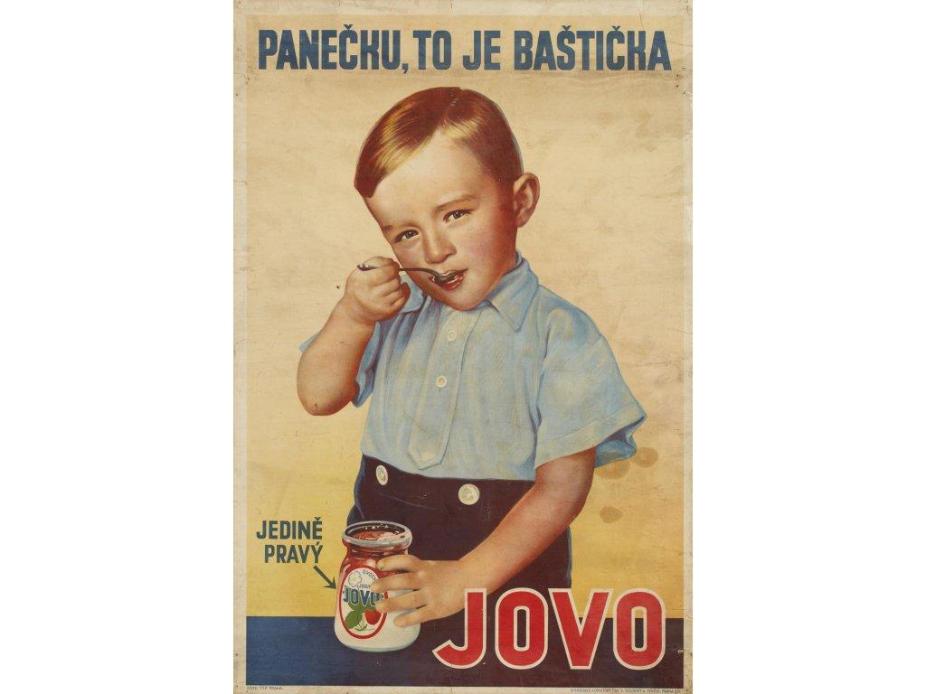Plechová retro cedule / plakát - JOVO