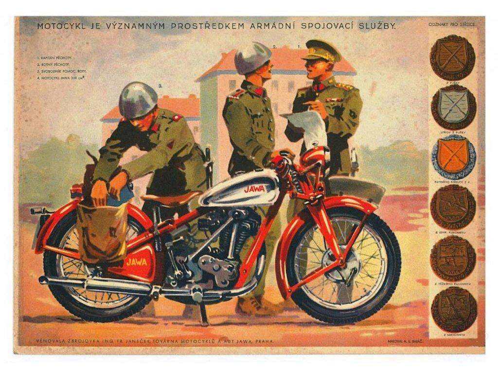 Retro plakát / Plechová cedule - Armádní spojovací služba