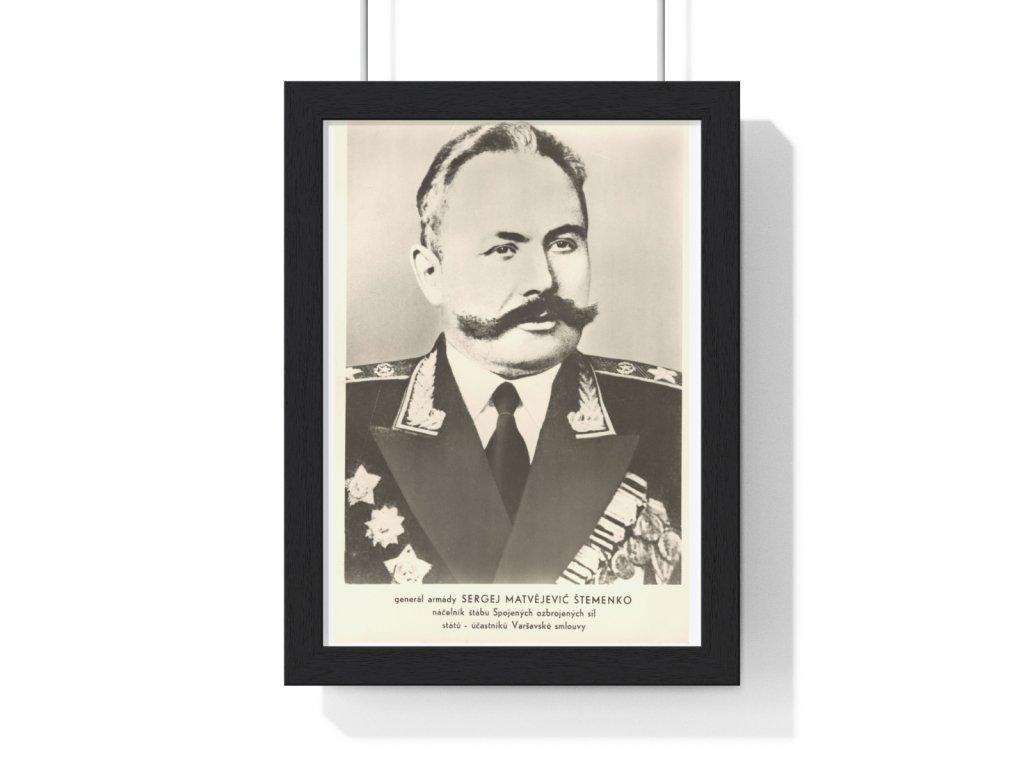 Sergej Matvějevič Štemenko - obraz / plechová cedule - retro dárek