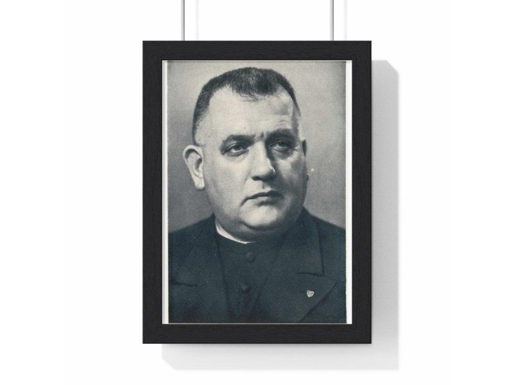 Jozef Tiso - var. 2 - obraz / plechová cedule - retro dárek