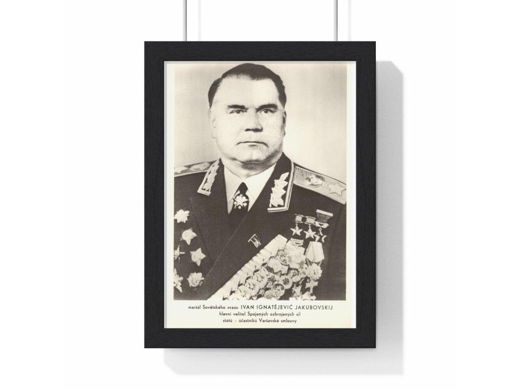Ivan Ignatějevič Jakubovskij - obraz / plechová cedule - retro dárek