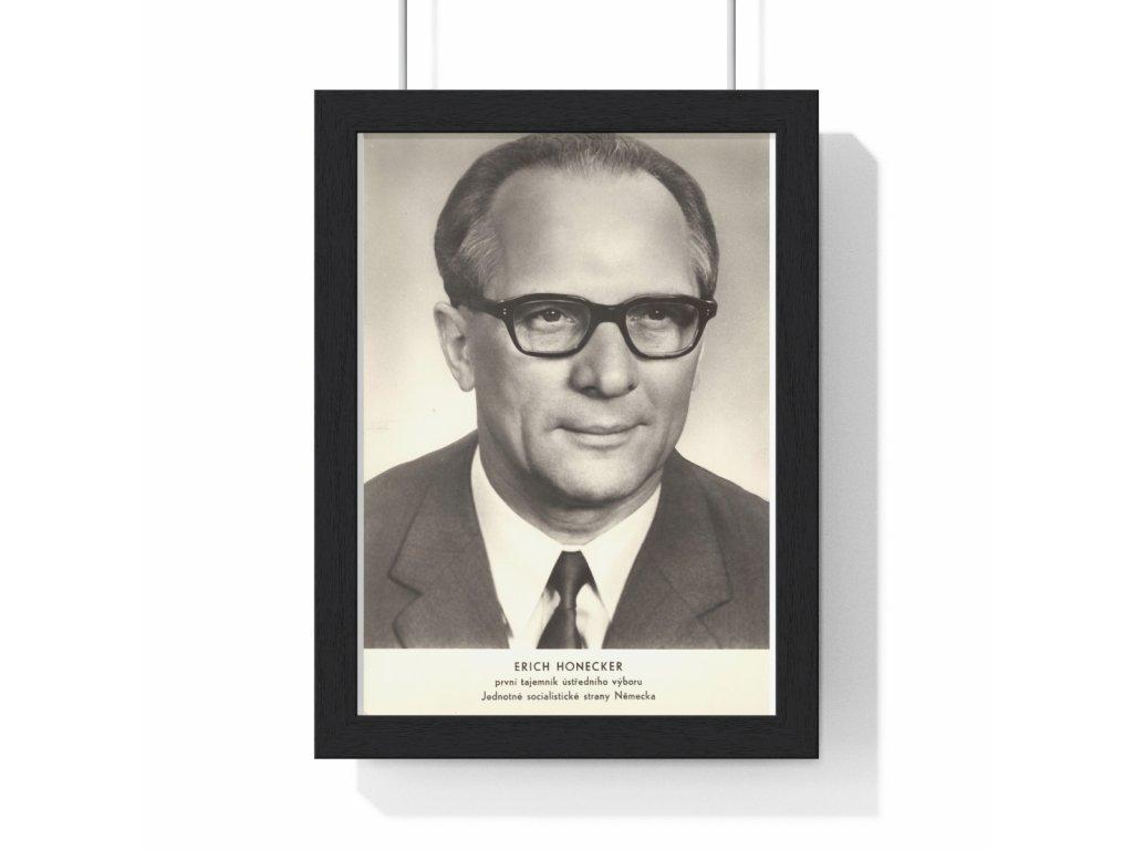 Erich Honecker - obraz / plechová cedule - retro dárek