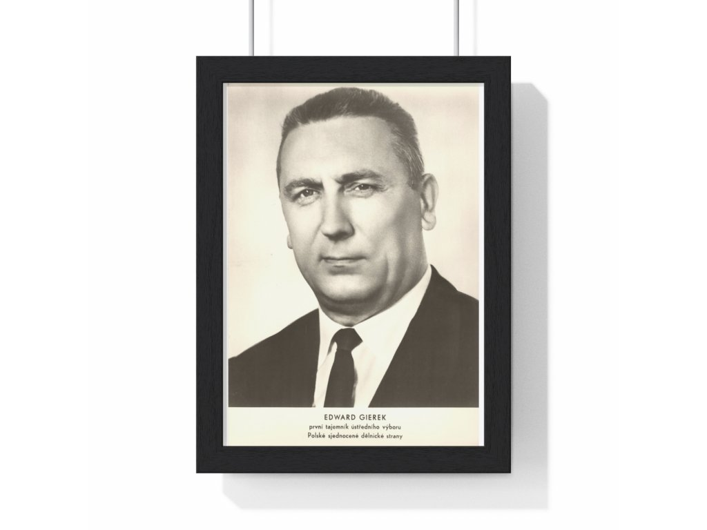 Edward Gierek - obraz / plechová cedule - retro dárek
