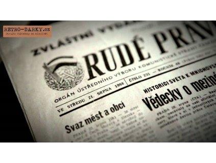 Noviny ze dne narození - Rudé právo