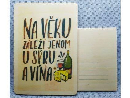 dřevěná pohlednice NA VĚKU
