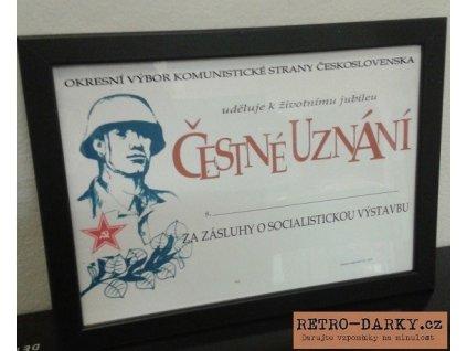 Čestné uznání KSČ jako retro dárek