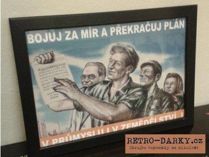 Plechová retro cedule / plakát - Bojuj za mír...