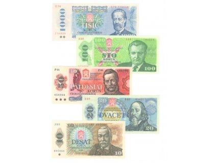 Sada bankovek ČSSR jako retro dárek var 2