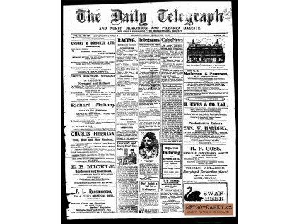 Noviny ze dne narození - Daily Telegraph