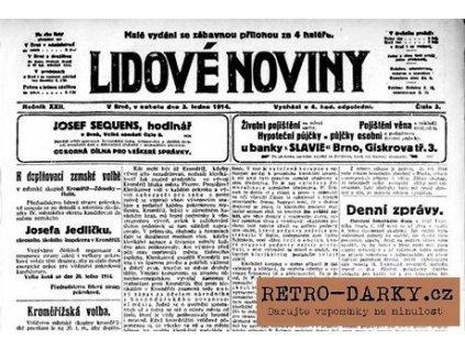 Noviny ze dne narození - Lidové noviny