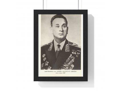 Andrej Antonovič Grečko - obraz / plechová cedule - retro dárek