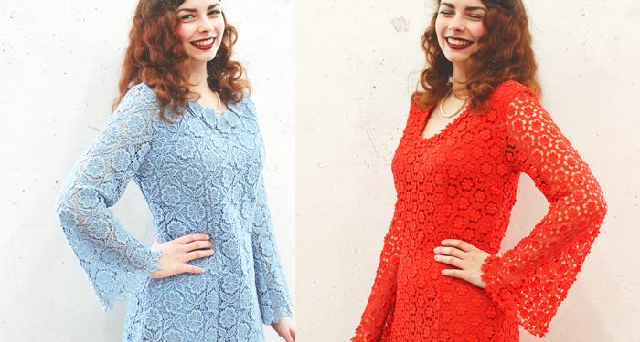 Oprava vyšívaných šatů z 60. let