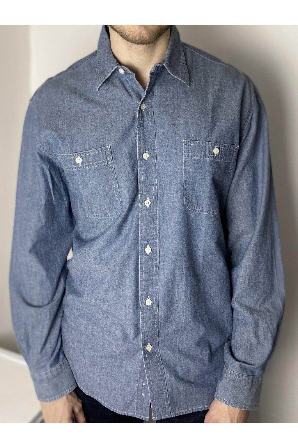 Modrá denimová košile vel. L/XL