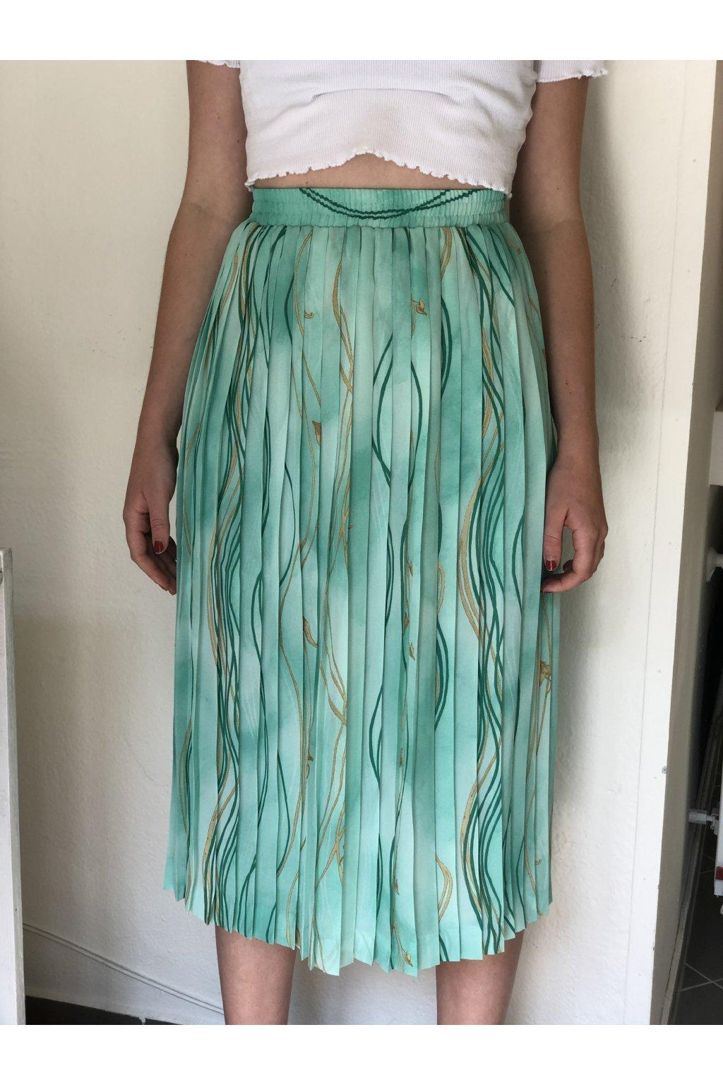 Tyrkysová plisovaná sukně vel. L/XL