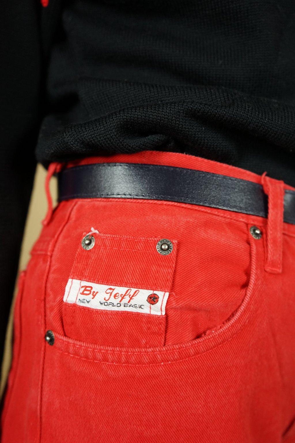 Červené džíny do pasu vel. S/M