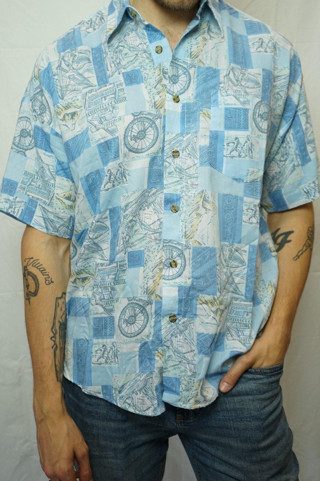 Vzorovaná košile vel. L/XL