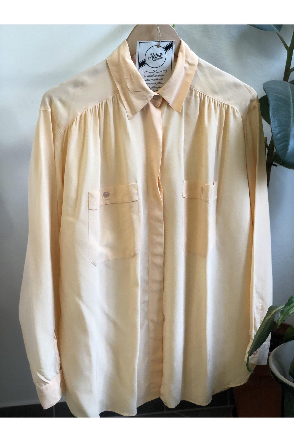 Meruňková hedvábná košile vel. XL