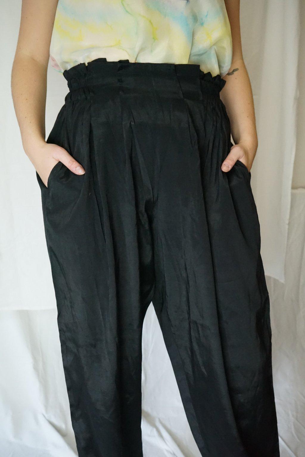 Černé kalhoty vel. S-L