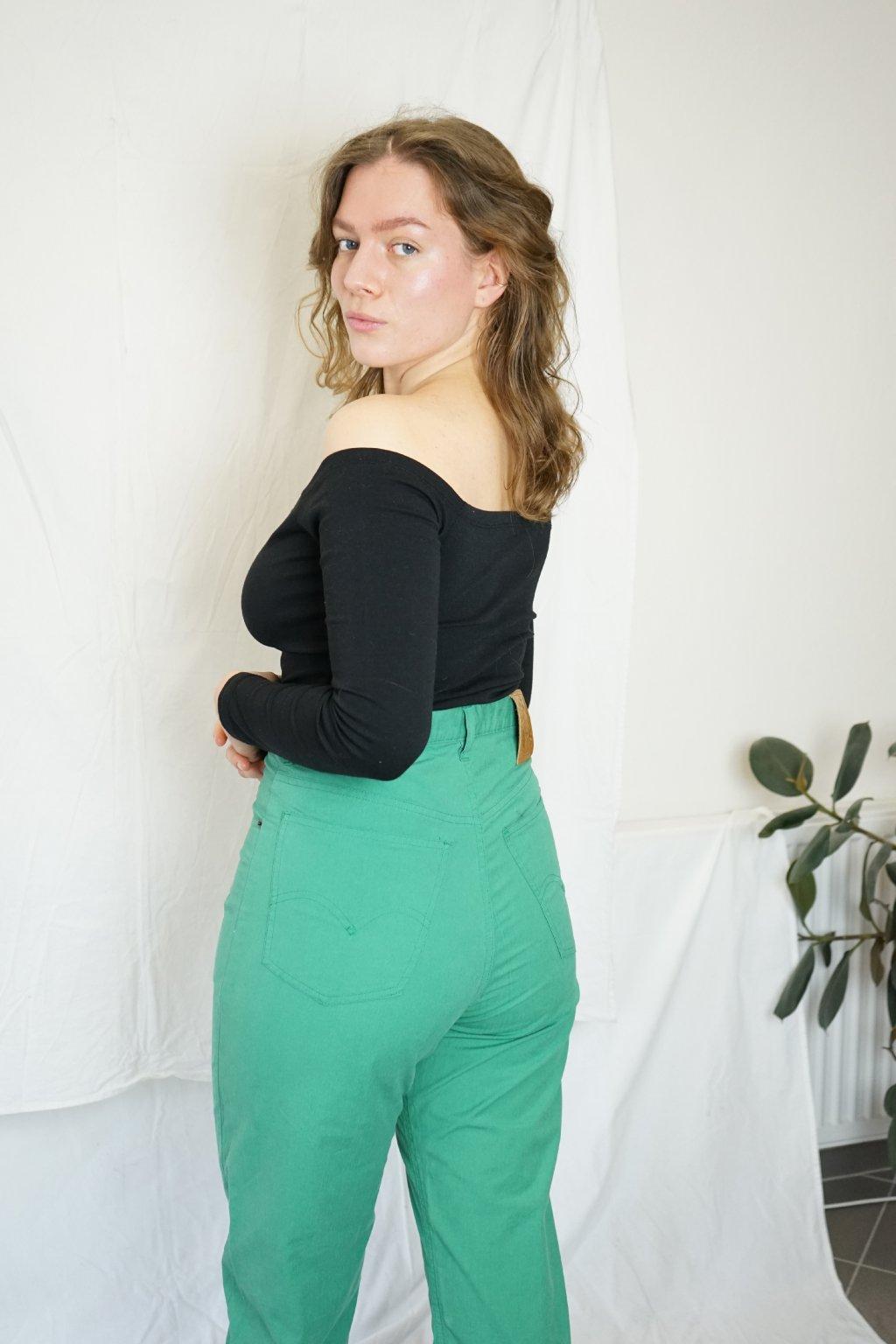 Zelené kalhoty vel. M/L