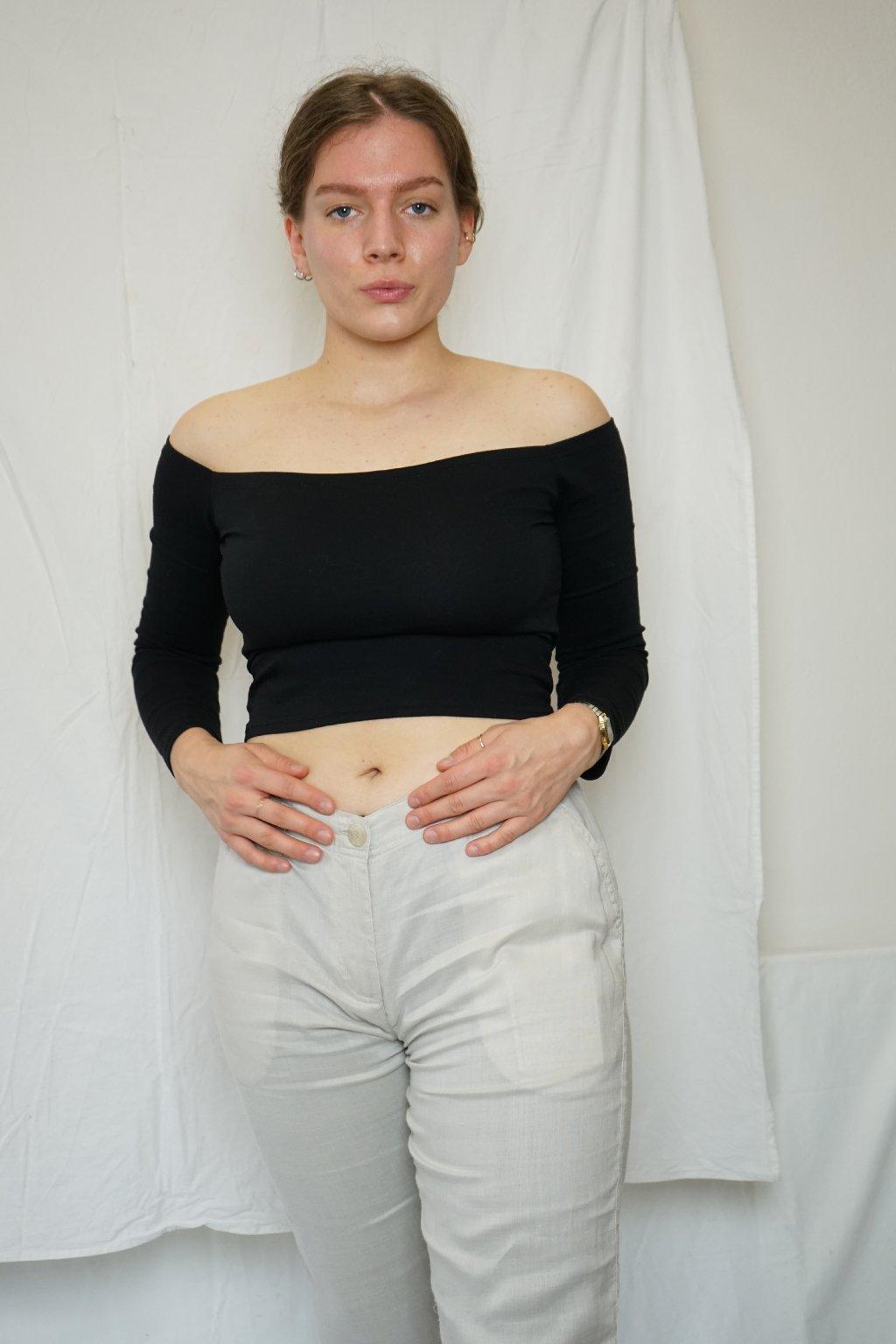 Kalhoty z přírodního materiálu vel. L