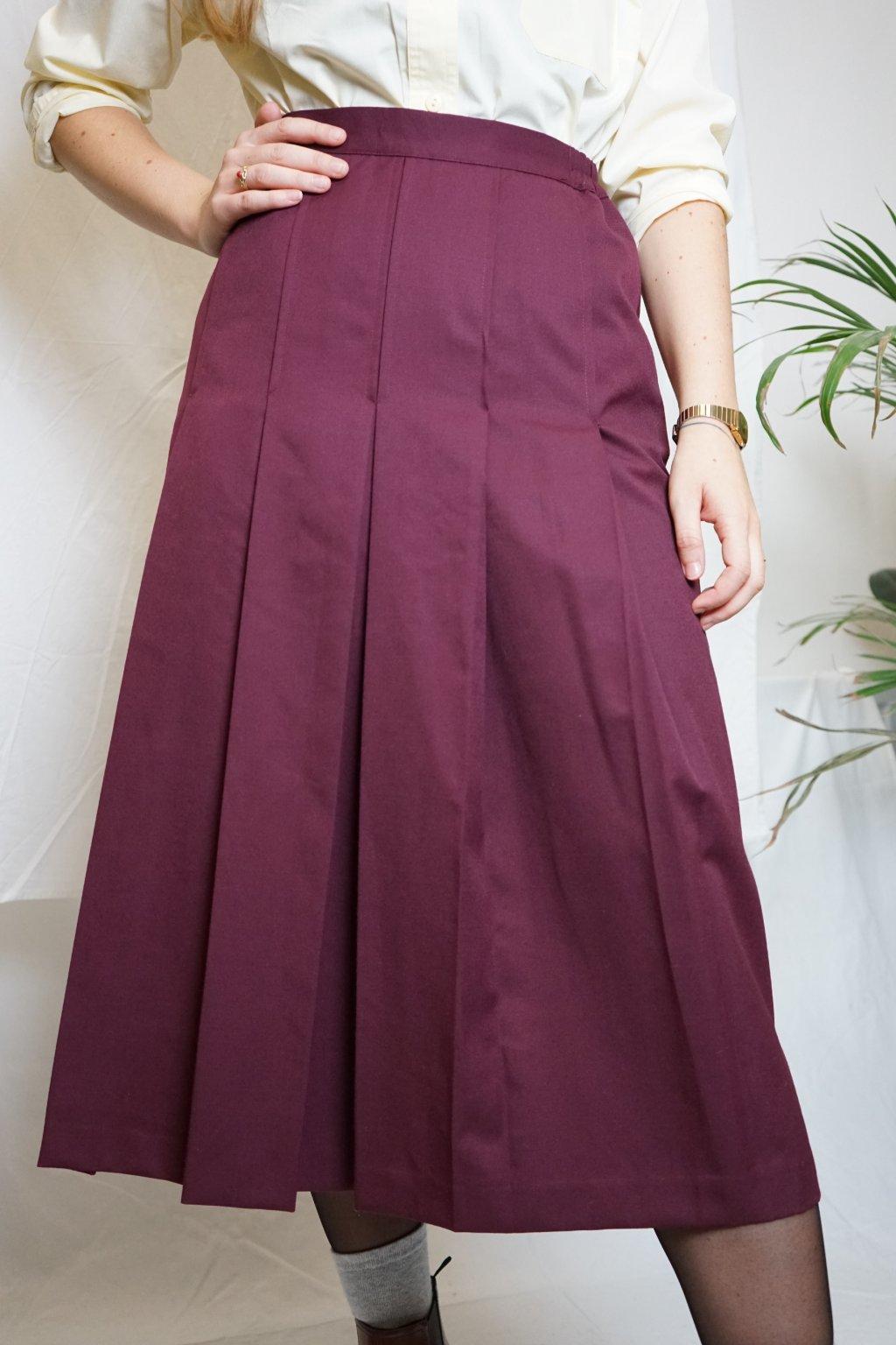 Vínová sukně vel. S