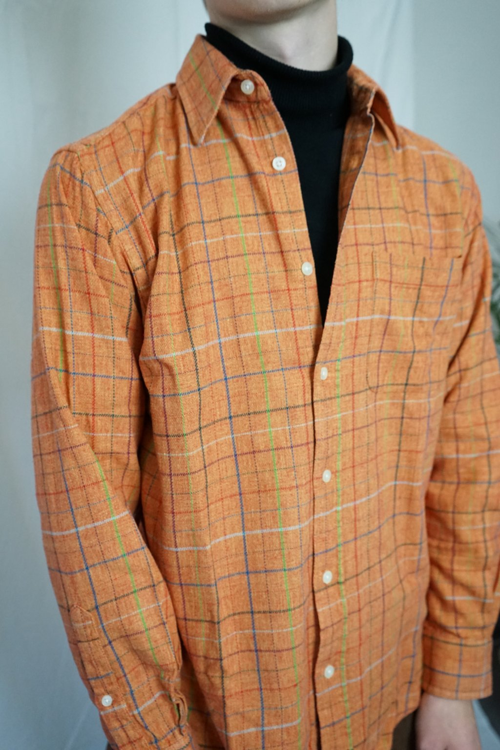 Károvaná flanelová košile vel. M