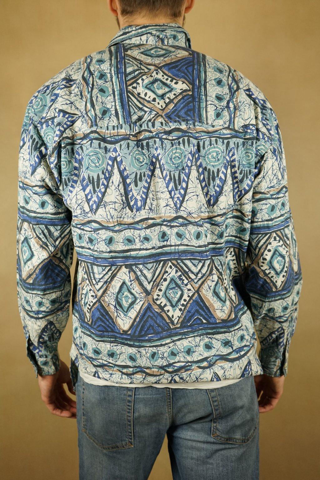 Vzorovaná košile na zip vel. L