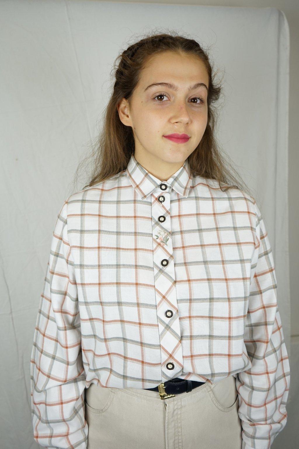 Trachtová košile s výšivkou vel. M