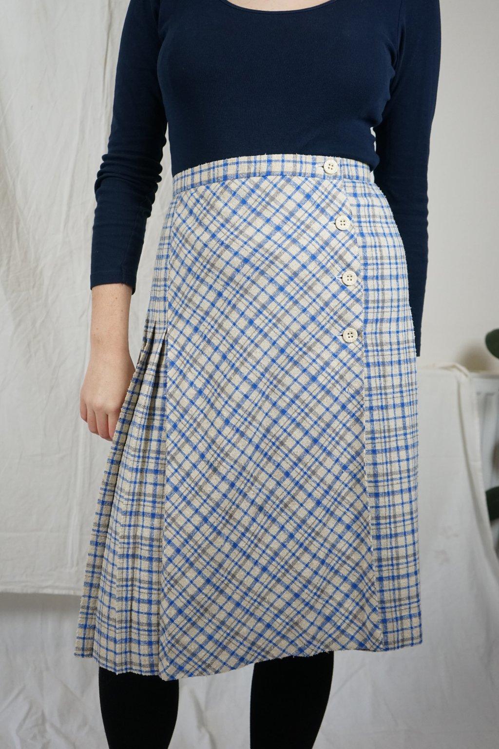 Károvaná sukně vel. M/L