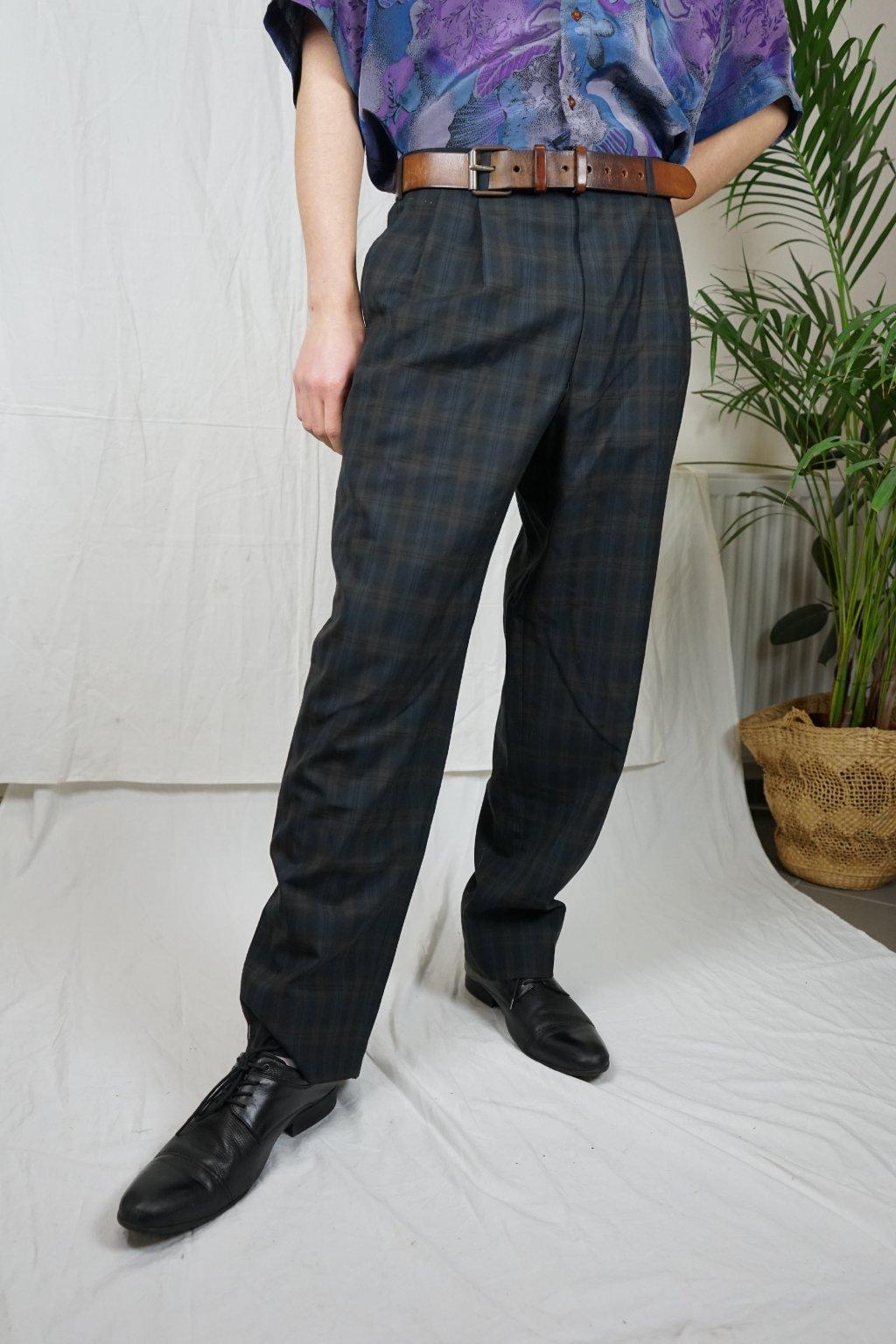 Kárované kalhoty vel. L