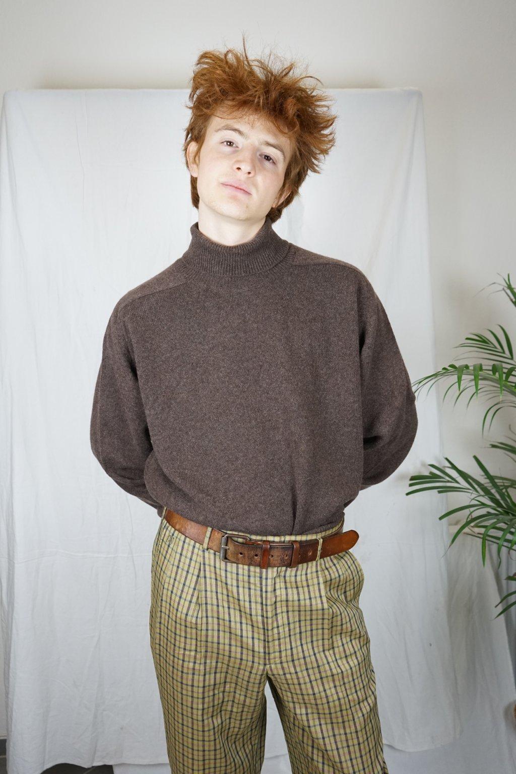 Kárované kalhoty vel. L/XL