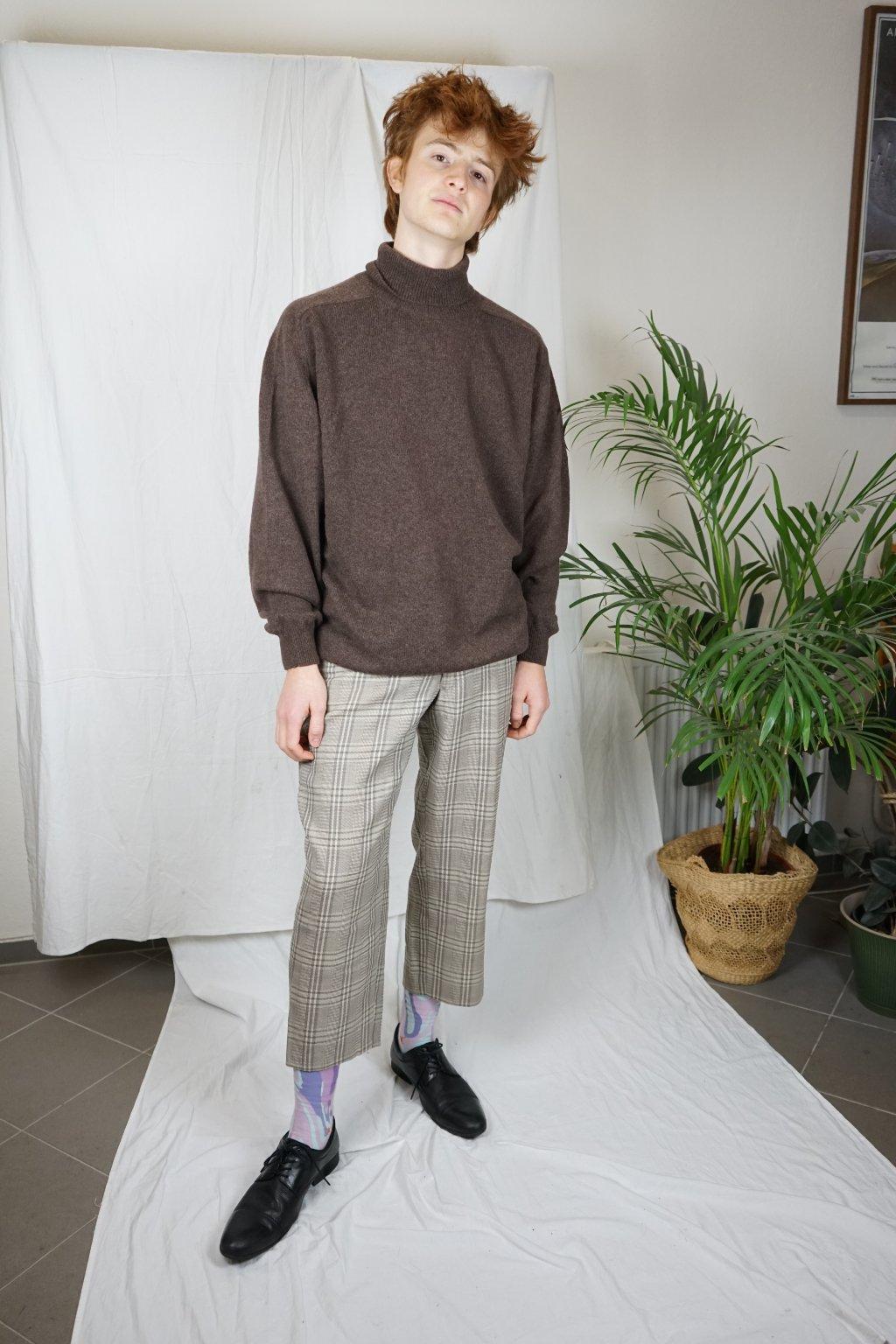Kárované kalhoty vel. M