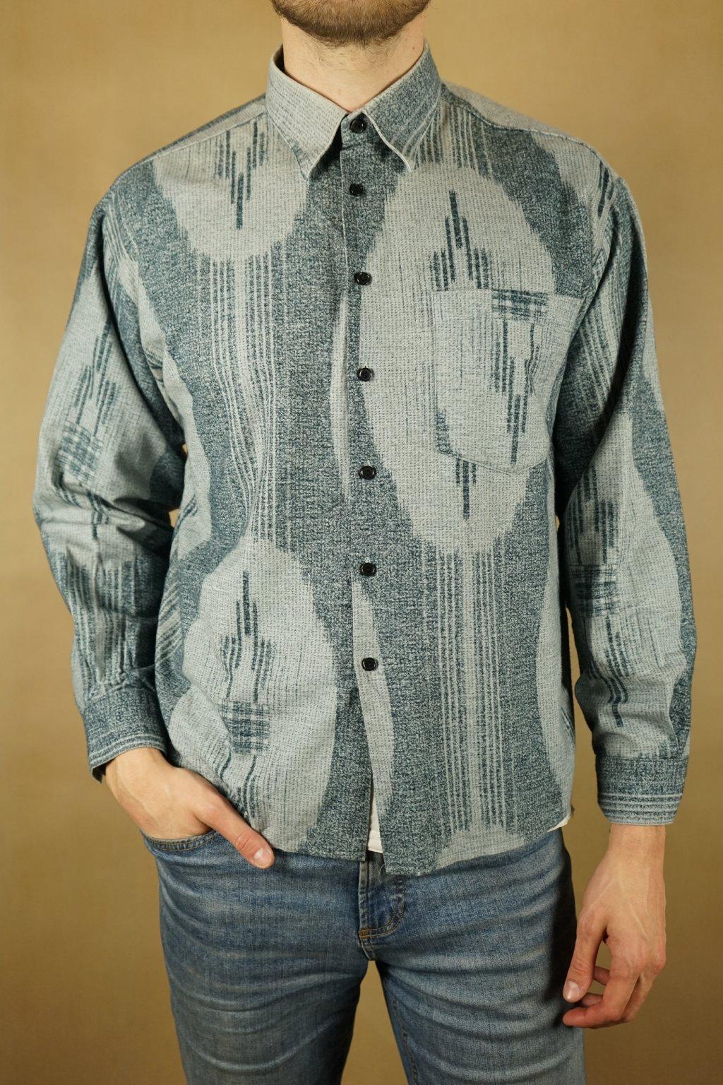 Vzorovaná flanelová košile vel. L
