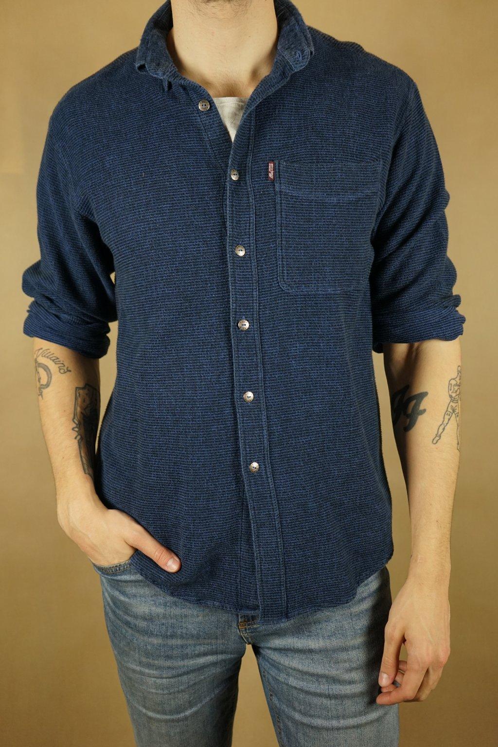 Modrá flanelová košile vel. M