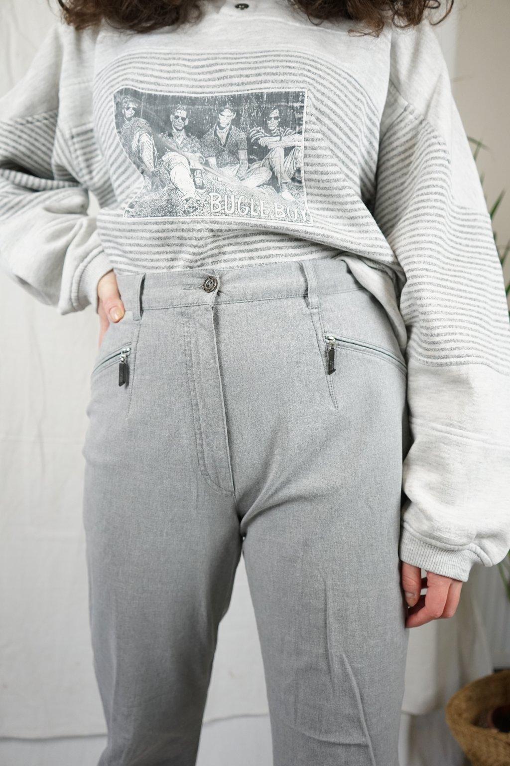 Šedé kalhoty vel. M