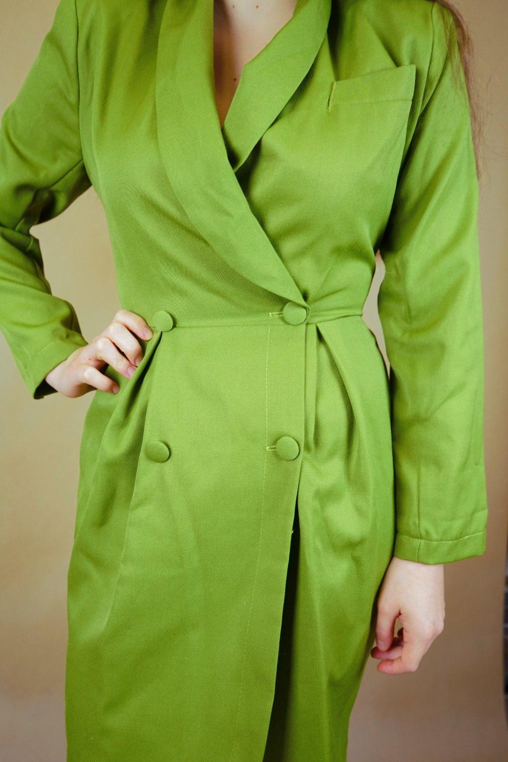Zelené pouzdrové šaty vel. S