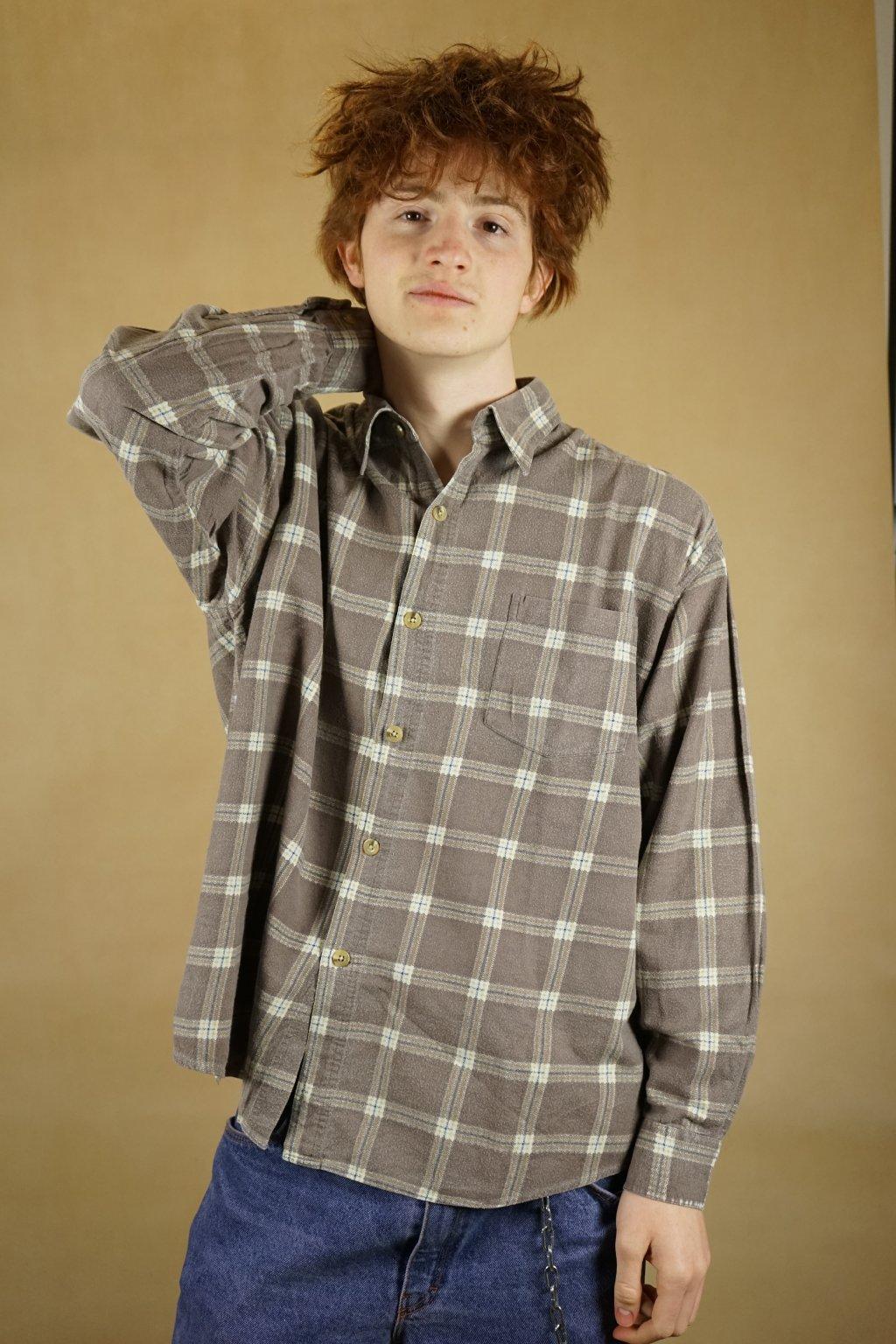 Károvaná flanelová košile vel. XL