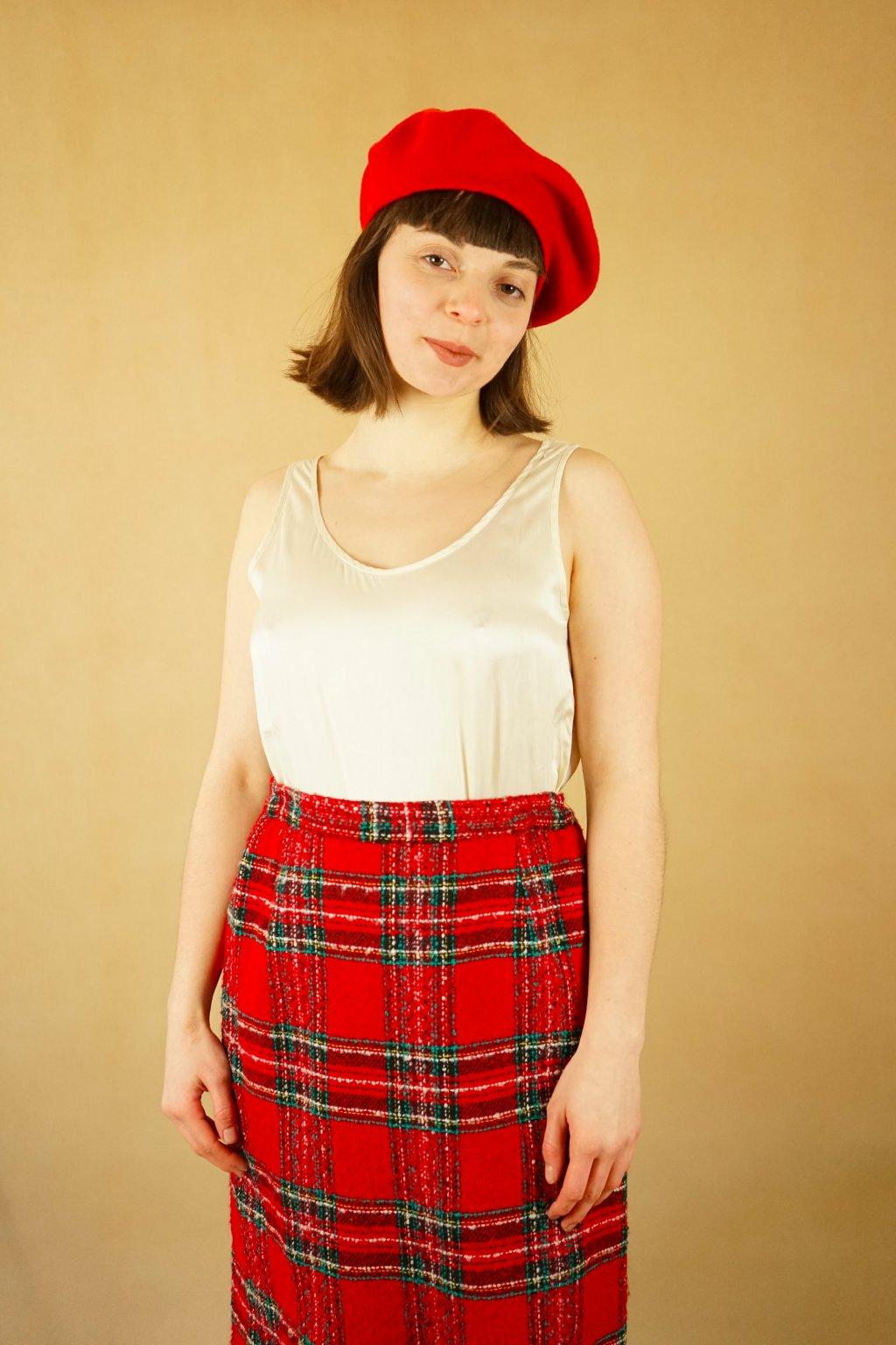 Károvaná sukně vel. XL