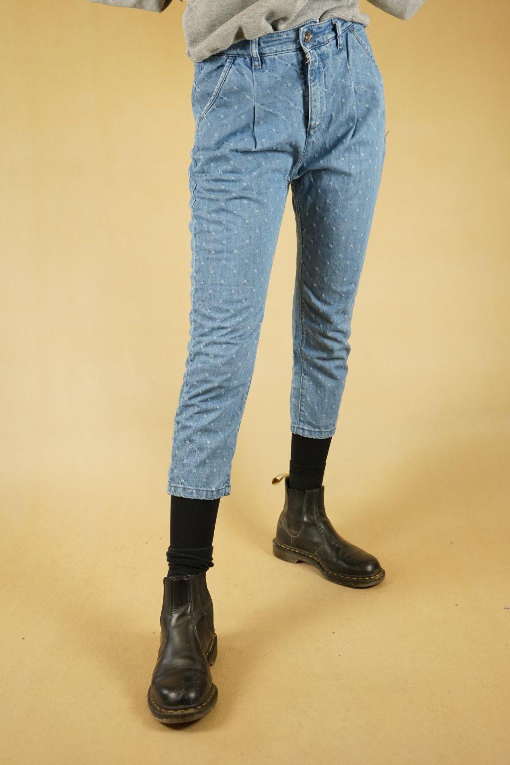 Třičtvrteční džíny do pasu vel. S