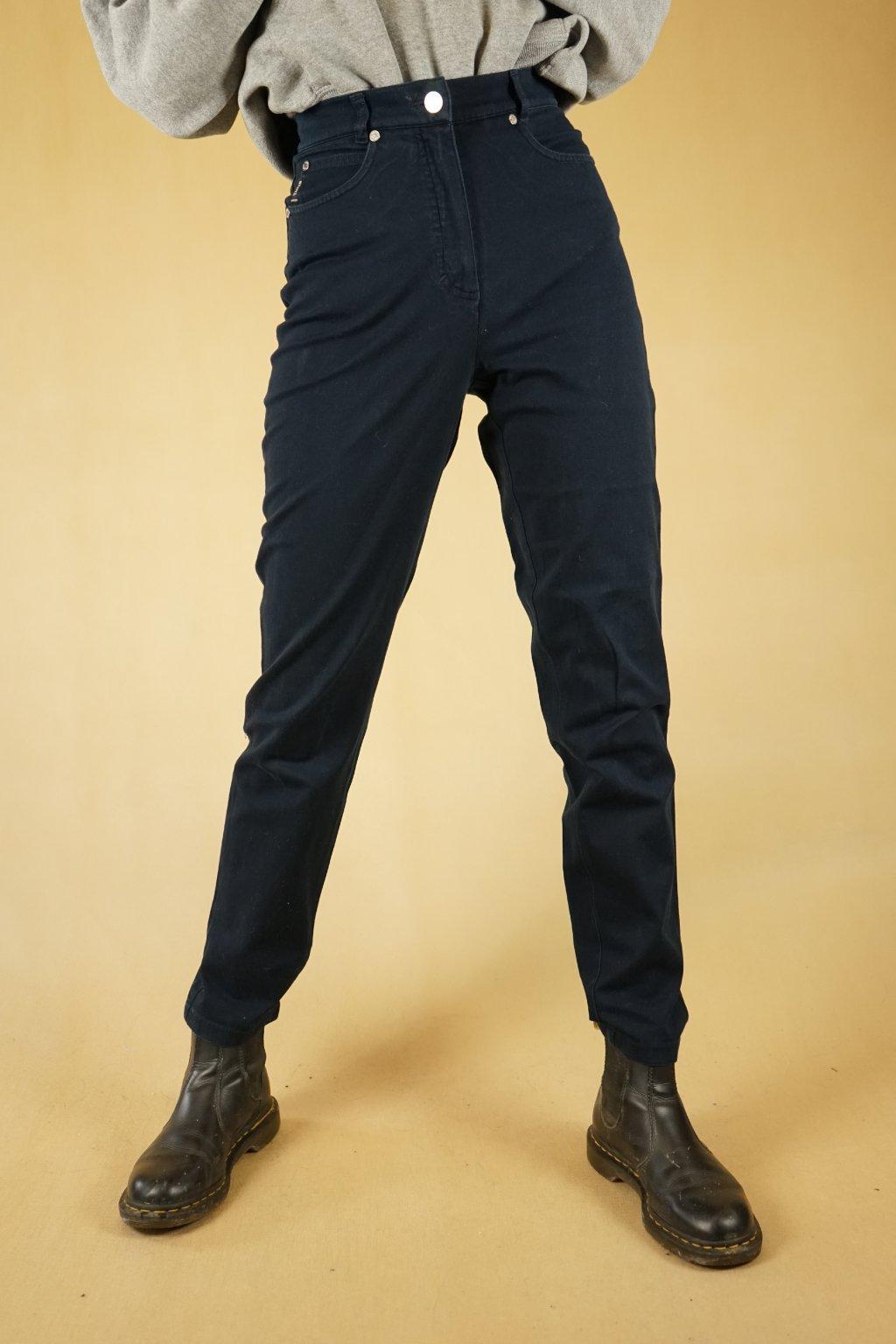 Tmavě modré kalhoty do pasu vel. XS/S