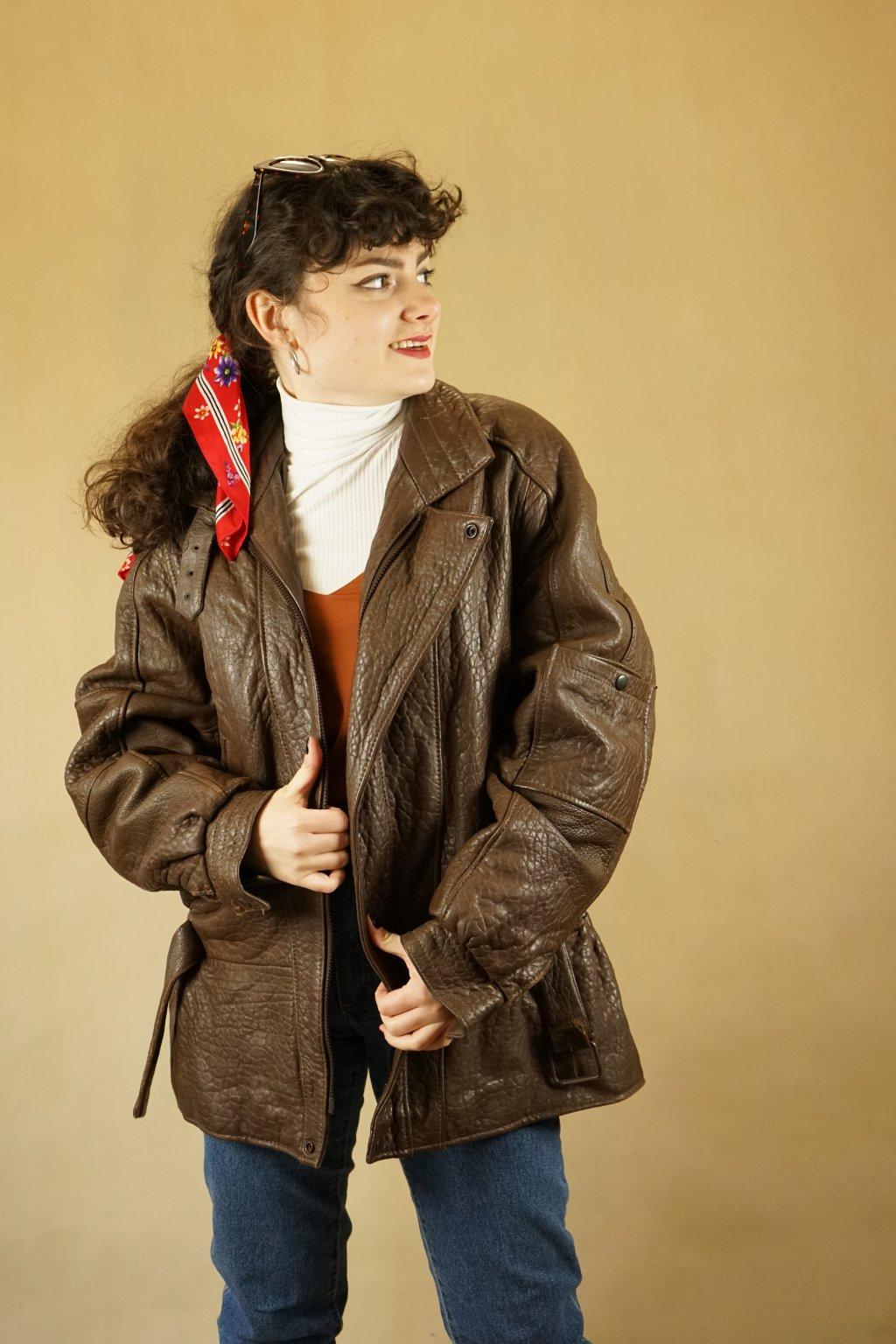 Kožená bunda vel. XL