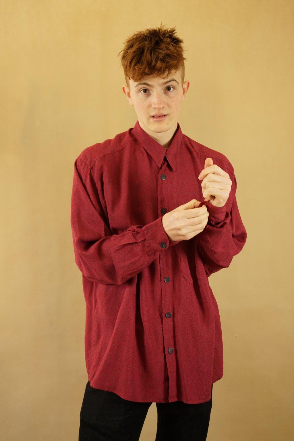 Červená košile vel. XL